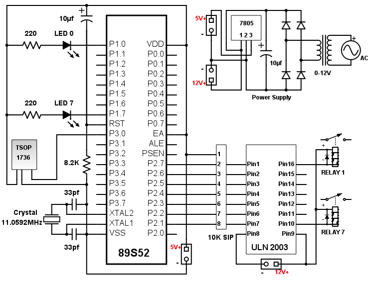 AC Remote Circuit Diagram